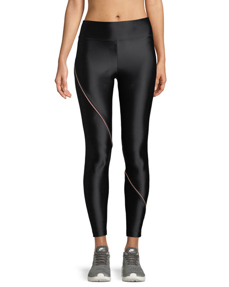 Image 1 of 3: Street Full-Length Leggings with Contrast Piping