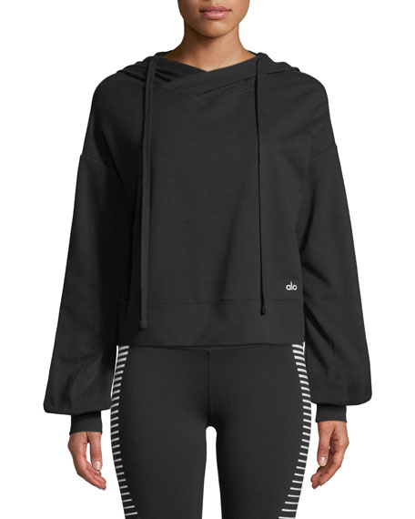 Alo Yoga Social Long-Sleeve Hooded Top