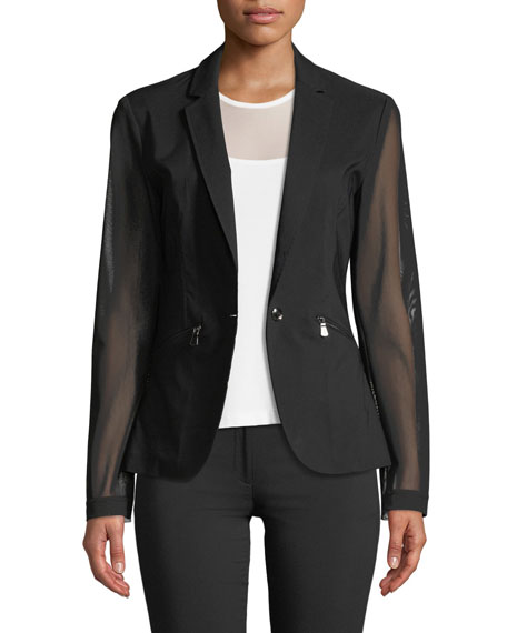 Anatomie Kleo Blazer with Sheer Sleeves & Back