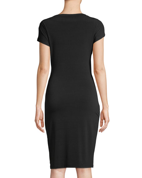 Francesca Short-Sleeve Wrap Dress