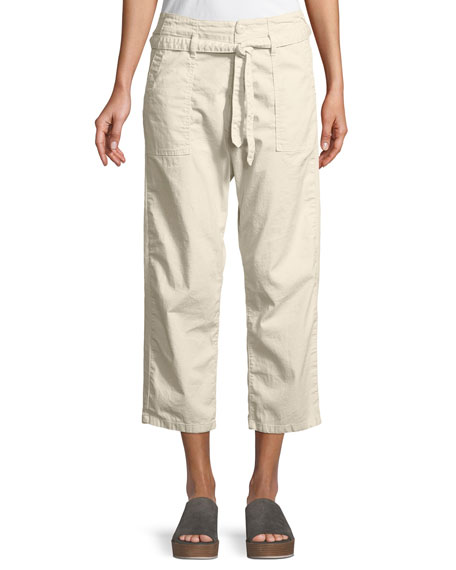 The Great The Convertible Cotton Crop Trousers