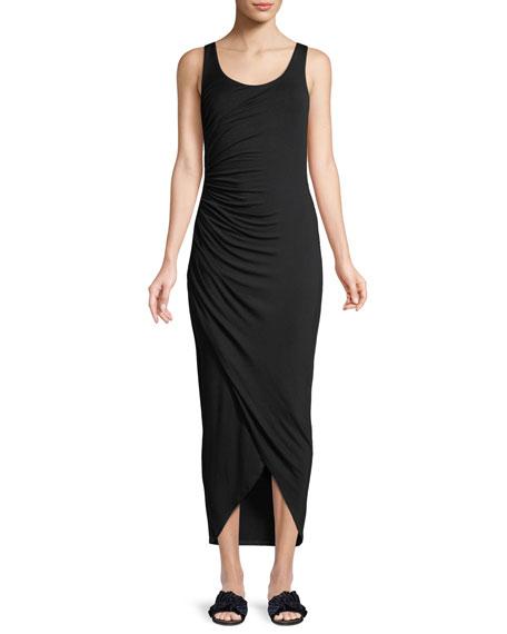 Dishdasha Scoop-Neck Side-Ruched Jersey Dress