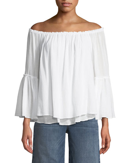 Bailey 44 Bahama Off-the-Shoulder Layered Top