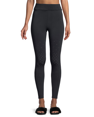 Annabelle Full-Length Perforated Performance Tights