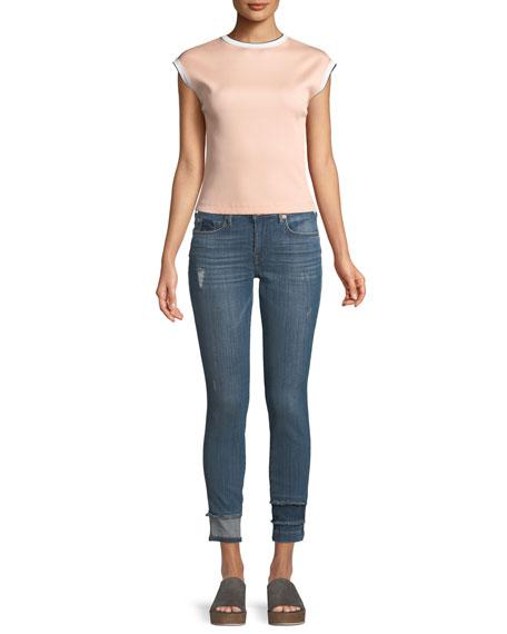 Jennie Curvy Skinny Jeans with Hem Detail
