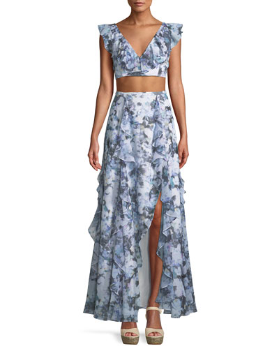 The Eliza Ruffled Two-Piece Gown