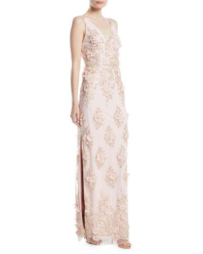 Bodist Beaded Floor Length Lace Dresses