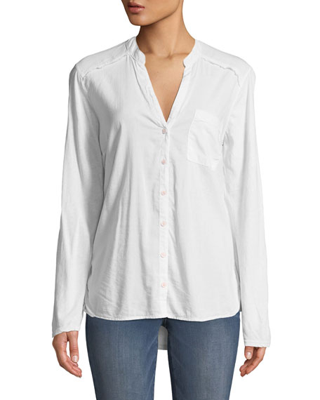 The New Famous Long-Sleeve Button-Front Shirt