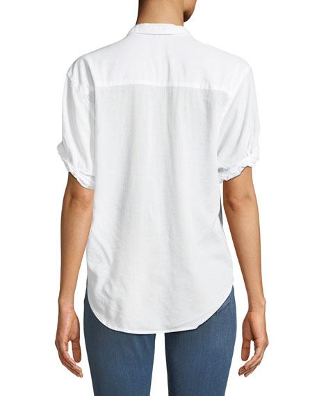 Boyfriend Short-Sleeve Button-Up Shirt