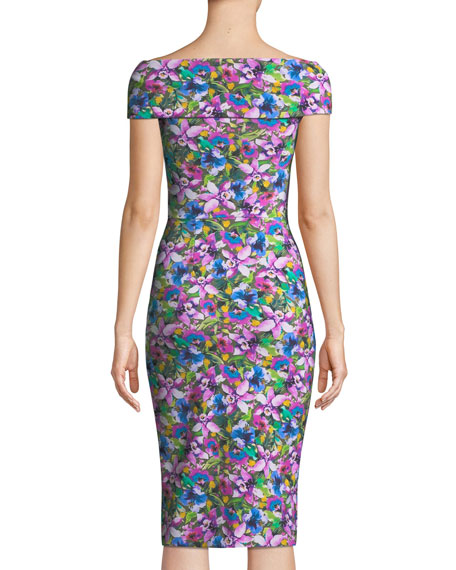 Marycarmen Floral Short-Sleeve Dress