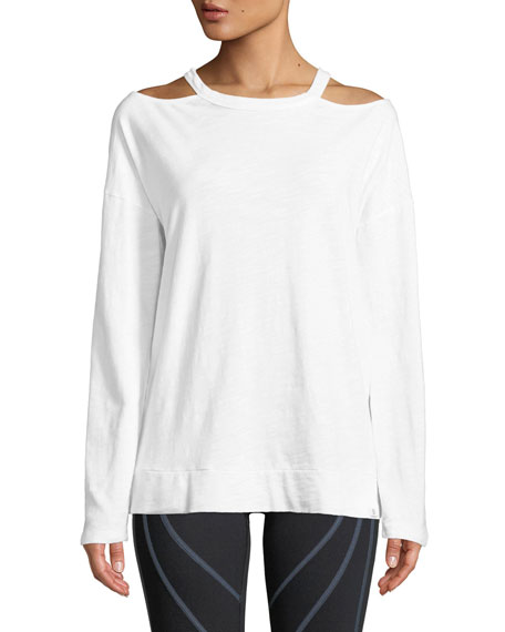 Repose Cutout Shoulder Pullover