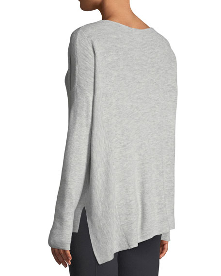 Shavasana Lace-Up Long-Sleeve Sweater