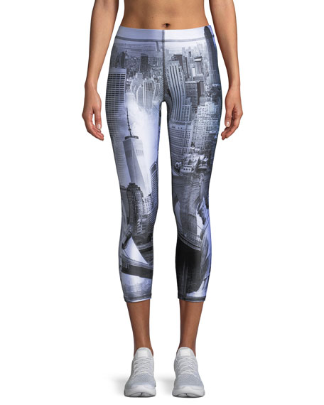 Terez Concrete Jungle Capri Leggings