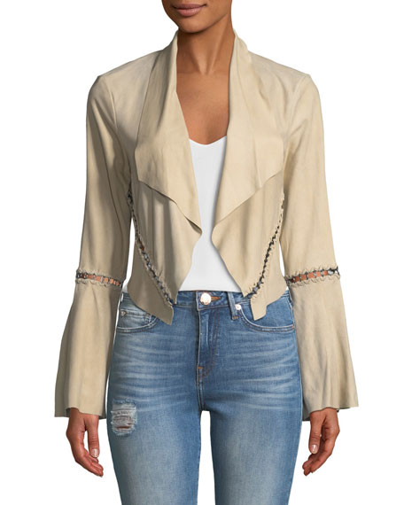 Festival Open-Front Cropped Stitched Jacket