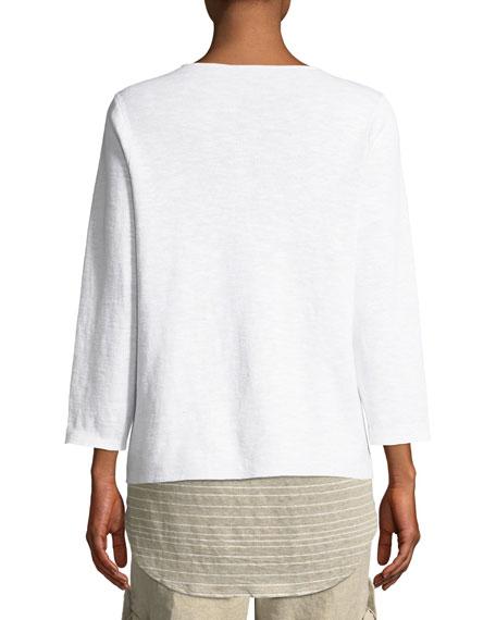 Organic Linen-Blend Zip-Front Cardigan