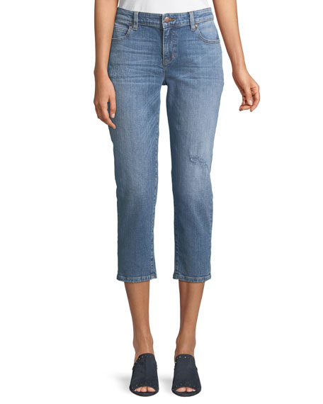 Cropped Tapered Jeans, Plus Size