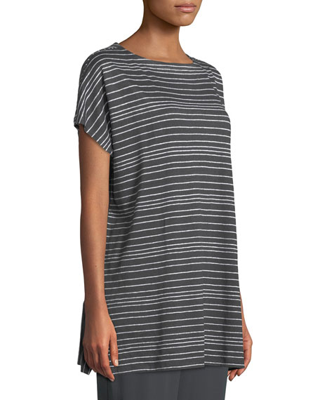 Varied Stripe Linen Tunic