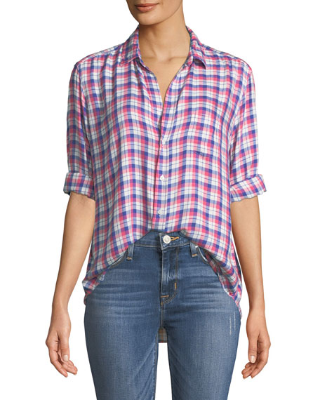 Frank & Eileen Eileen Long-Sleeve Plaid Button-Down Shirt