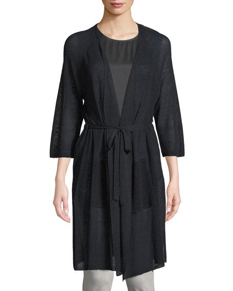 Eileen Fisher Linen-Blend Belted Cardigan, Petite