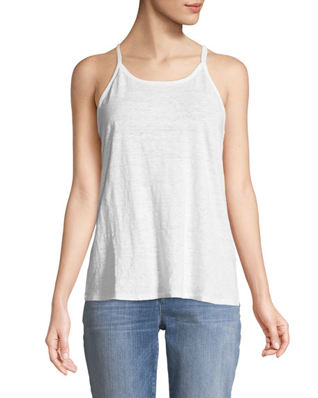 Eileen Fisher Organic Linen Jersey Strappy Tank Top