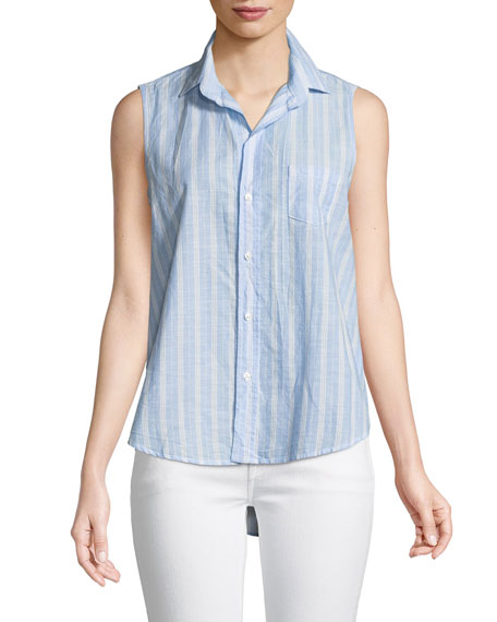 Frank & Eileen Fiona Sleeveless Striped Button-Down Shirt