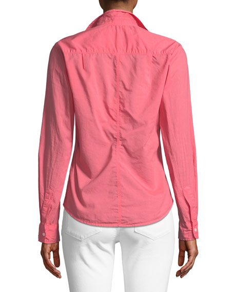 Barry Long-Sleeve Button-Down Top