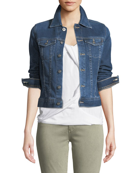 AG Robyn Button-Front Denim Jacket