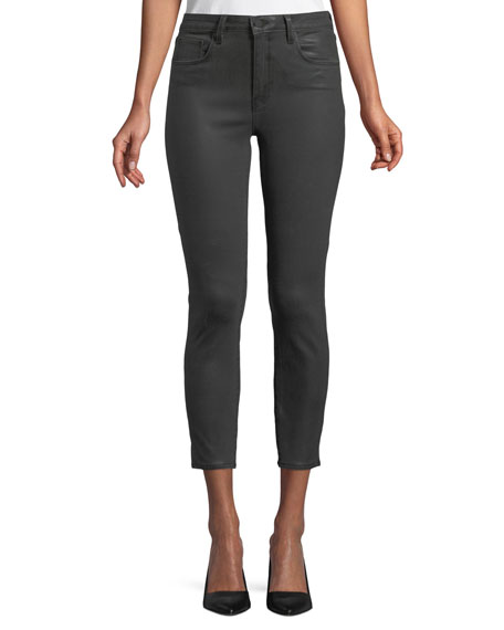 L'Agence Margot High-Rise Coated Skinny-Leg Jeans