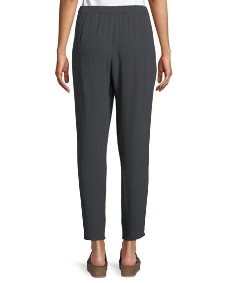 Silk Georgette Ankle Pants, Plus Size