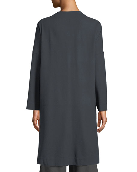 Long Linen Noil Kimono Jacket