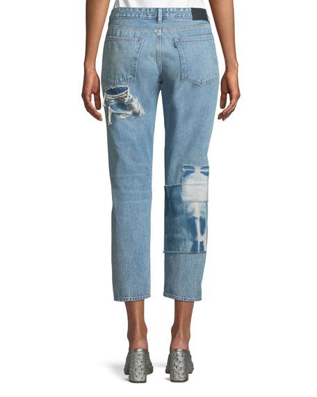 Crush Taper Tidal Wave Straight-Leg Jeans