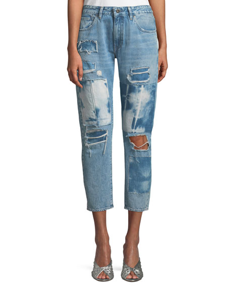 Crush Taper Tidal Wave Straight-Leg Jeans