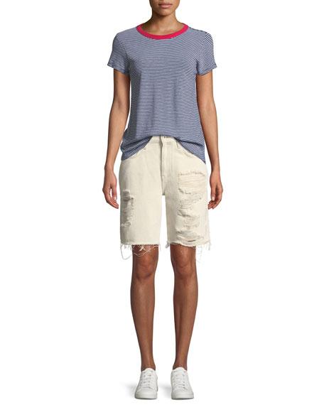 Drifter Distressed Denim Shorts