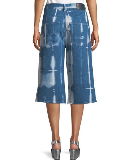 Tie-Dye Denim Summer Culotte