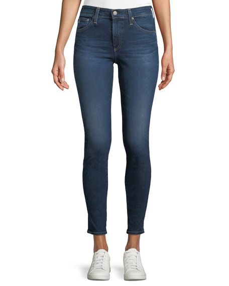 AG Adriano Goldschmied Farrah High-Rise Skinny-Leg Ankle Jeans