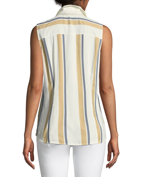 Emerie Vienna Striped Sleeveless Blouse