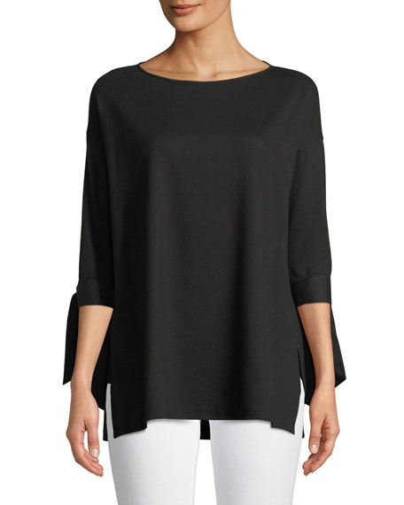 Lafayette 148 New York Catriona Lightweight Punto-Knit Top