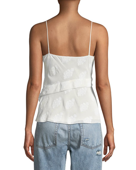 Coastal Silky Crossover Tank Top