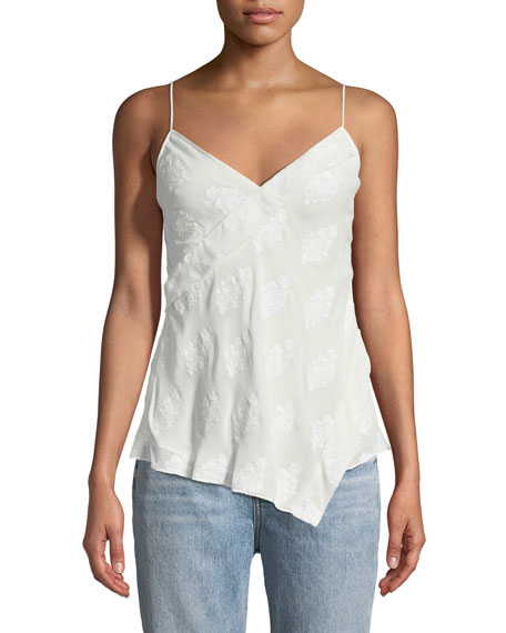 Theory Coastal Silky Crossover Tank Top