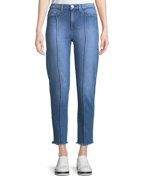 Hudson Zoeey High-Rise Pintuck Straight-Leg Jeans
