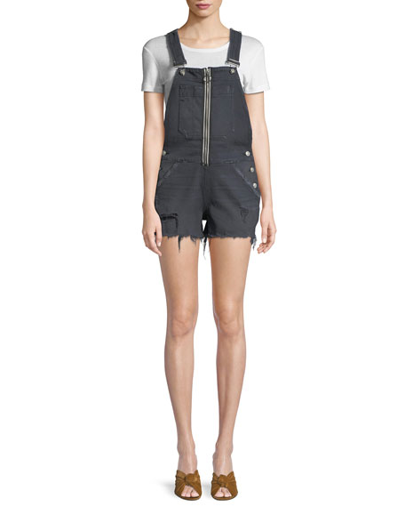 Joey Exposed-Zip Cutoff Shortall