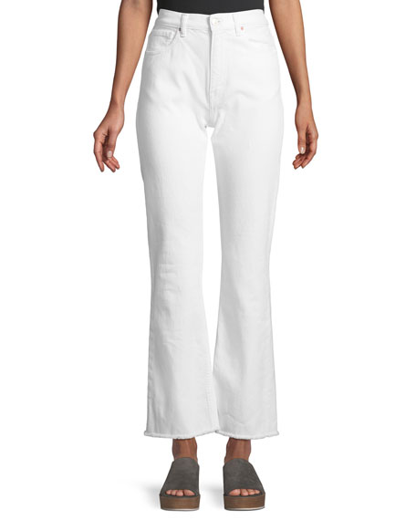 Stella High-Waist Wide-Leg Jeans w/ Fray Hem