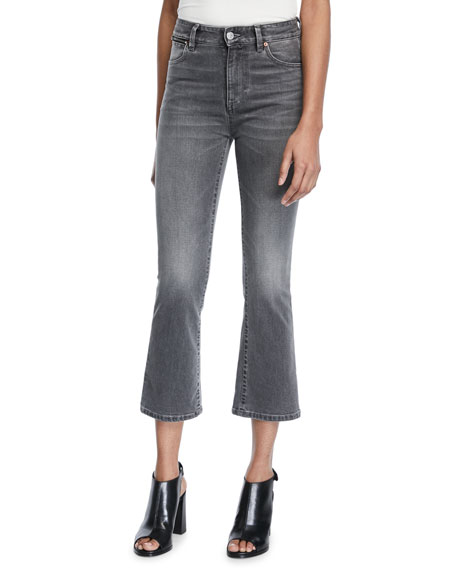 Acynetic PHOEBE HIGH-RISE CROP MINI FLARE JEANS