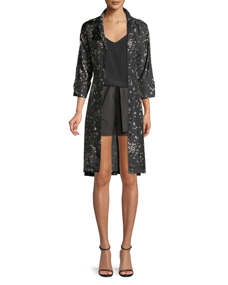 Calleigh Decorative Dashes Silk Duster Dress