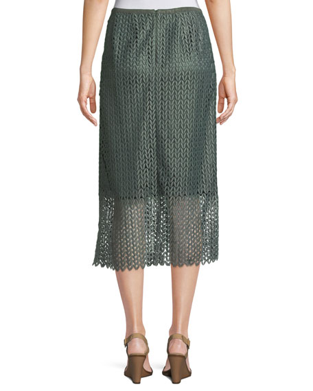 Robby Lambent Lace Slim Skirt