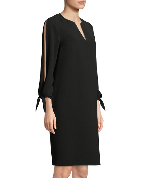 Khloe Finesse Crepe Shift Dress