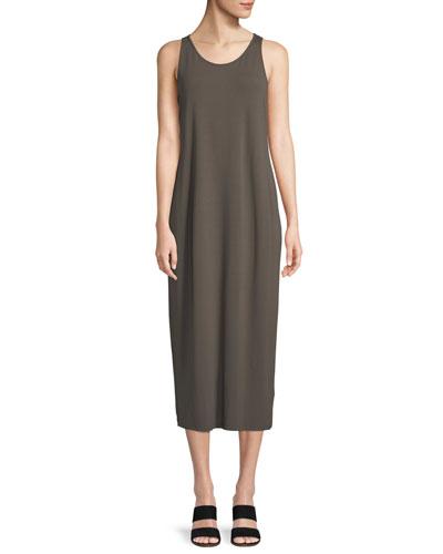 Sleeveless Jersey Maxi Dress, Petite