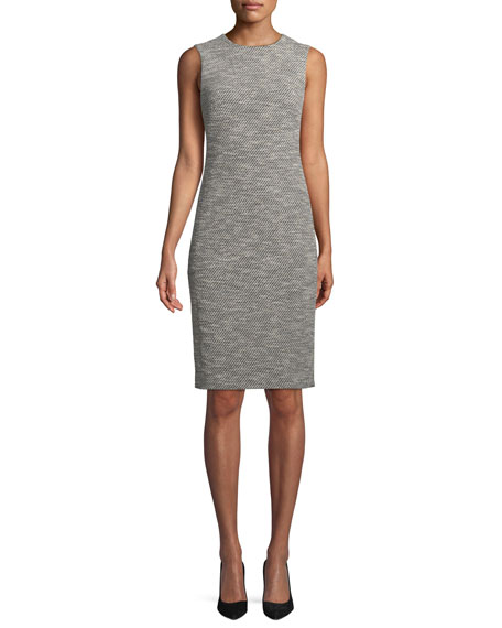 Eano Benton Sleeveless Tweed Sheath Dress
