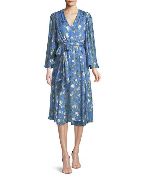Halsey Floral-Print Midi Dress