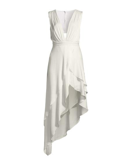 Chantay Sleeveless Asymmetric Maxi Dress